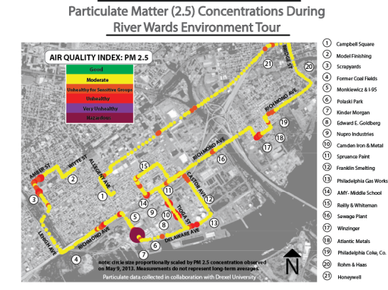 particulate measurement map